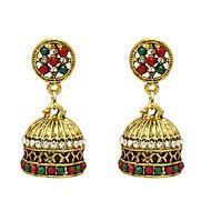 Χαμηλού Κόστους -Γυναικεία Κρεμαστά Σκουλαρίκια Σκουλαρίκι Προσομειωμένο διαμάντι Σκουλαρίκια Κοσμήματα Χρυσό Για Φεστιβάλ 1 Pair