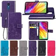 Custodia Per LG LG Stylo 4 / LG X Power3 A portafoglio / Con supporto / Con chiusura magnetica Integrale Tinta unita / Farfalla / Fiore decorativo Resistente pelle sintetica per LG Q Stylus / LG X