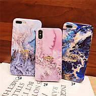 kotelo omena iphone xr / iphone xs max kuvio / imd / jalusta takakansi marmori pehmeä tpu iphonex xs 8 8plus 7 7plus 6 6plus 6s 6splus