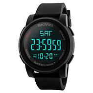 Χαμηλού Κόστους -SKMEI Ανδρικά Ψηφιακό ρολόι Ψηφιακό Ανοξείδωτο Ατσάλι σιλικόνη Μαύρο / Μπλε / Πράσινο 50 m Ανθεκτικό στο Νερό Ημερολόγιο Διπλές Ζώνες Ώρας Ψηφιακό Καθημερινό Υπαίθριο - Μαύρο Πράσινο Μπλε
