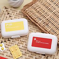 ราคาถูก -Travel Medicine Box / Case Portable / ทนทาน พลาสติก 11*7.5*3 cm ซม.