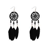 Χαμηλού Κόστους -Γυναικεία Πεπαλαιωμένο Στυλ Κρεμαστά Σκουλαρίκια Φτερό Σκουλαρίκια Φτερό Ονειροπαγίδα Μποέμ Etnic Μοντέρνα Κοσμήματα Κόκκινο / Μπλε / Ροζ Για Καθημερινά Αργίες 1 Pair