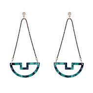 Χαμηλού Κόστους -Γυναικεία Γεωμετρική Κρεμαστά Σκουλαρίκια θαυμαστής σκουλαρίκια Σκουλαρίκια Κλασσικό Βίντατζ Ευρωπαϊκό Κοσμήματα Λευκό / Πράσινο / Μπεζ / Λευκό Για Απόκριες Αργίες Δουλειά Φεστιβάλ 1 Pair
