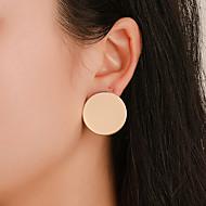 Χαμηλού Κόστους -Γυναικεία Γεωμετρική Κουμπωτά Σκουλαρίκια Σκουλαρίκια Απλός Κλασσικό Κοσμήματα Χρυσό / Μαύρο / Ασημί Για Καθημερινά Δρόμος Αργίες Δουλειά 1 Pair