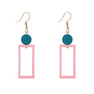 Χαμηλού Κόστους -Γυναικεία Γεωμετρική Κρίκοι θαυμαστής σκουλαρίκια Ξύλο Σκουλαρίκια Απλός Κορεάτικα Μοντέρνα Κοσμήματα Κίτρινο / Ροζ Ανοικτό Για Απόκριες Δρόμος Αργίες Δουλειά 1 Pair