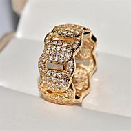 preiswerte -Damen Kubikzirkonia Klassisch Ring Stilvoll Moderinge Schmuck Gold / Weiß Für Geschenk Alltag
