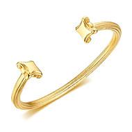 Χαμηλού Κόστους -Ανδρικά Κλασσικό Χειροπέδες Βραχιόλια Τιτάνιο Ατσάλι Χαρά Στυλάτο Βραχιόλια Κοσμήματα Χρυσό Για Δώρο Καθημερινά