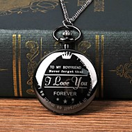 Χαμηλού Κόστους -Ανδρικά Ρολόι Τσέπης Χαλαζίας Μαύρο Καθημερινό Ρολόι Μεγάλο καντράν Αναλογικό Μοντέρνα Λεκτικό ρολόι - Μαύρο