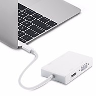 cheap -HDMI / VGA / Type-C USB Cable Adapter All-In-1 / OTG Adapter / Cable For Macbook 20 cm For Plastic & Metal / ABS+PC