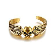 Χαμηλού Κόστους -Ανδρικά Κλασσικό Χειροπέδες Βραχιόλια Τιτάνιο Ατσάλι Σειρά Τοτέμ Πανκ Βραχιόλια Κοσμήματα Χρυσό / Ασημί Για Δώρο Καθημερινά