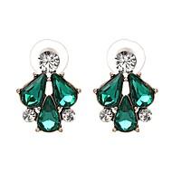 저렴한 -여성용 드랍 귀걸이 모조 다이아몬드 귀걸이 드롭 세련 보석류 다크 그레이 / 밝은 핑크 / 네이비 블루 제품 일상 1 쌍