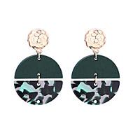 Χαμηλού Κόστους -Γυναικεία Γεωμετρική Κρεμαστά Σκουλαρίκια Κρίκοι θαυμαστής σκουλαρίκια Ξύλο Σκουλαρίκια Απλός Ευρωπαϊκό Μοντέρνα Κοσμήματα Λευκό / Καφέ / Πράσινο Για Καθημερινά Δρόμος Αργίες Δουλειά Φεστιβάλ 1 Pair