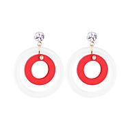 Χαμηλού Κόστους -Γυναικεία Κρυστάλλινο Πασιέντζα Κρεμαστά Σκουλαρίκια Σκουλαρίκι Ξύλο Σκουλαρίκια Απλός Κορεάτικα Μοντέρνα Κοσμήματα Κόκκινο / Πράσινο / Ροζ Για Καθημερινά Απόκριες Δρόμος Αργίες Δουλειά 1 Pair
