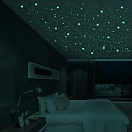 זול -מדבקות קיר דקורטיביות - מדבקות קיר זוהרות כוכבים / 3D חדר ילדים
