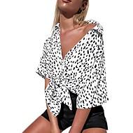 billige -Dame - Prikker Bluse Hvid M