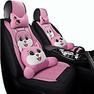 abordables -cojín del coche cuatro estaciones universal femenino de dibujos animados red linda rojo lino todo incluido conjunto de asientos de tela cubierta de asiento especial de verano / cinco asientos /