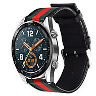 billige -Klokkerem til Huawei Watch GT / Watch 2 Pro Huawei Sportsrem Nylon / Ekte lær Håndleddsrem