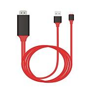 abordables -adaptateur de câble usb lightning adaptateur 1080p pour iphone / ipad 200 cm pour pu (polyuréthane)