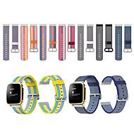 billige -Klokkerem til Pebble Time / Pebble Time Steel Pebble Sportsrem Stoff / Nylon Håndleddsrem