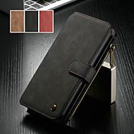 tanie -CaseMe Kılıf Na Huawei Huawei P30 Pro / Huawei P30 Lite Portfel / Etui na karty / Z podpórką Pełne etui Solidne kolory Twardość Skóra PU na Huawei P30 / Huawei P30 Pro / Huawei P30 Lite