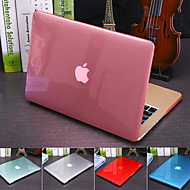 economico -cover traslucida in cristallo colorato solido per macbook pro air retina custodia rigida in plastica da 11/12/13/15 pollici (a1278-a1989)