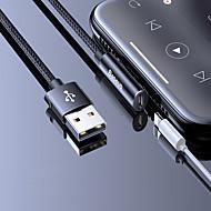 abordables -adaptateur eclairage baseus / cable tresse / 1 a 2 adapteur de cable usb en nylon / aluminium pour iphone