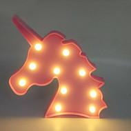 Χαμηλού Κόστους -1pc Unicorn LED νύχτα φως Θερμό Λευκό Μπαταρίες AA Powered Δημιουργικό <5 V
