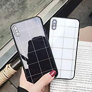 cheap -Case For Apple iPhone XS Max / iPhone 6 Mirror / Pattern Back Cover Geometric Pattern Hard Tempered Glass for iPhone XS / iPhone XR / iPhone XS Max