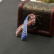رخيصةأون -نسائي عبور العلم الأمريكي دبابيس علم أوروبي شائع موضة بروش مجوهرات أحمر أزرق من أجل مناسب للبس اليومي مهرجان