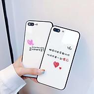 billiga -fodral Till Apple iPhone XS Max / iPhone 6 Spegel / Mönster Skal Ord / fras Hårt Härdat glas för iPhone XS / iPhone XR / iPhone XS Max