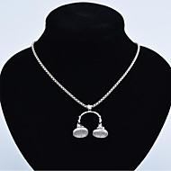 levne -Pánské Náhrdelníky s přívěšky Chrome Zlatá Černá Stříbrná 60 cm Náhrdelníky Šperky 1ks Pro Dar Festival