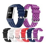 tanie -opaska na zegarek do fitbitu 3-pasmowy silikonowy pasek na nadgarstek