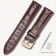 halpa -aitoa nahkaa / Nahka / Vasikankarva Watch Band Hihna varten Musta / Ruskea 17cm / 6.69 Tuumaa / 18cm / 7 tuumaa / 19cm / 7.48 tuumaa 1.4cm / 0.55 tuumaa / 1.6cm / 0.6 tuumaa / 1.8cm / 0.7 tuumaa