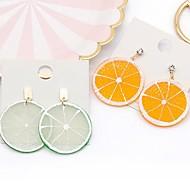 abordables -Boucle d'Oreille Pendantes Femme Fruit Le style mignon Bagues Tendance Bijoux Orange clair Vert clair pour Quotidien 1 paire