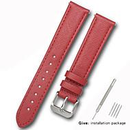 halpa -aitoa nahkaa / Nahka / Vasikankarva Watch Band Hihna varten Punainen 17cm / 6.69 Tuumaa / 18cm / 7 tuumaa / 19cm / 7.48 tuumaa 1cm / 0.39 tuumaa / 1.2cm / 0.47 tuumaa / 1.3cm / 0.5 tuumaa