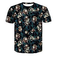 tanie -T-shirt Męskie Moda miejska / Przesadny, Nadruk 3D Czarny US36