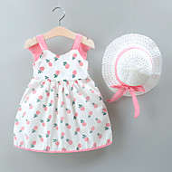 cheap -Baby Girls' Basic Fruit Patchwork / Print Sleeveless Above Knee Dress Blushing Pink