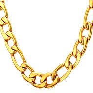 ieftine -Bărbați Lănțișoare Lănțișor Figaro lanț Mariner Chain Simplu Modă 18K Placat cu Aur Oțel titan Auriu Negru Argintiu 55 cm Coliere Bijuterii 1 buc Pentru Absolvire Cadou Zilnic Școală