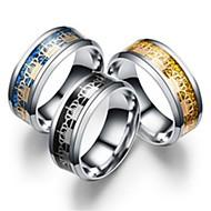 رخيصةأون -نسائي عصابة الفرقة / خاتم / الذيل الدائري 1PC ذهبي / أسود / أزرق الفولاذ المقاوم للصدأ / الصلب التيتانيوم دائري أساسي / موضة هدية / مناسب للبس اليومي مجوهرات