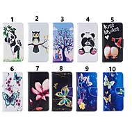 povoljno -Θήκη Za Samsung Galaxy Note 9 / Note 8 / Galaxy Note 10 Novčanik / Utor za kartice / Otporno na trešnju Korice Rukav leptir / drvo / Panda PU koža