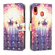 cheap -Case For Samsung Galaxy A6 (2018) / A6 Plus / A7(2018) Wallet / Card Holder / Flip Full Body Cases Animal PU Leather For Samsung Galaxy A10/A20/A20E/A30/A40/A50/A60/A70/A80/A90/A2 Core
