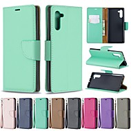 povoljno -Θήκη Za Samsung Galaxy Galaxy Note 10 / Galaxy Note 10 Plus Novčanik / Utor za kartice / Otporno na trešnju Korice Jednobojni PU koža