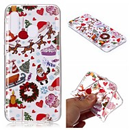 cheap -Case For Samsung Galaxy A6 (2018) / A6 (2018) / A8 2018 Transparent / Pattern Back Cover Christmas TPU For Samsung Galaxy A10/A20/A20E/A30/A40/A50/A60/A70/A8 Plus