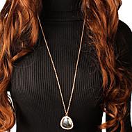 ieftine -Pentru femei Coliere cu Pandativ Lănțișor Colier lung, Clasic Alphabet Shape Norocos La modă Corean Modă Cute Stil Crom Diamante Artificiale Auriu Argintiu 87 cm Coliere Bijuterii 1 buc Pentru Zilnic