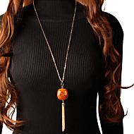 ieftine -Pentru femei Coliere cu Pandativ Lănțișor Colier lung, Franjuri Norocos La modă Corean Modă Cute Stil Lemn Crom Auriu Argintiu 77 cm Coliere Bijuterii 1 buc Pentru Zilnic Școală Stradă Concediu