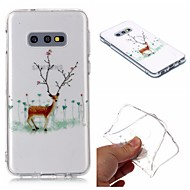 cheap -Case For Samsung Galaxy S9 / S9 Plus / S8 Plus Transparent / Pattern Back Cover Christmas TPU For Samsung Galaxy S8/S10/S10E/10 5G/S10 Plus/S5/S6/S6 Edge/S7/S7 Edge