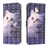 cheap -Case For Samsung Galaxy J6 (2018) / J4 (2018) / Galaxy J4 Plus(2018) Wallet / Card Holder / Flip Full Body Cases Cat PU Leather For Samsung Galaxy J6 Plus/M10/M20/M30