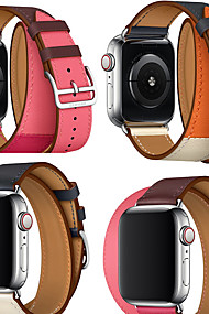 cheap -Watch Band for Apple Watch Series 4/3/2/1 Apple Leather Loop Genuine Leather Wrist Strap