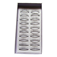 10 Pairs Black False Eyelashes Lengthening Thicker Fiber Natural Looking and Curved Lashes