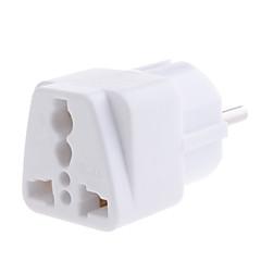 yongwei wp-9 universal european adaptor adaptor de călătorie alb alb
